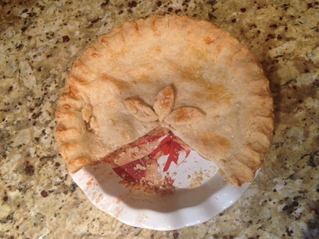 ve concluded: 1) I make darn good pie 2) I have to change my pie ...