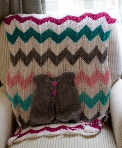H's Chevron Blanket